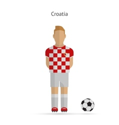 National football player croatia soccer team vector