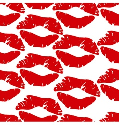 Kisses pattern vector