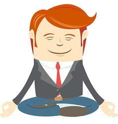 Office man meditating vector