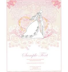 Elegant wedding invitation card with wedding vector