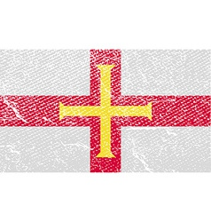 Flag of guernsey with old texture vector