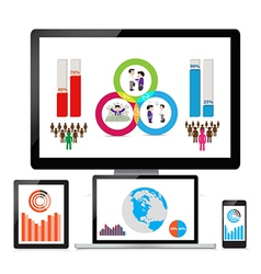 Web and seo analytics concept vector