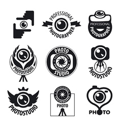 Big set of logos for professional photographer vector