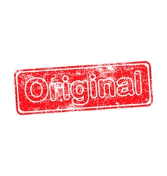 Original red grunge rubber stamp vector