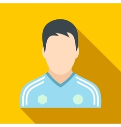 Soccer player flat icon vector