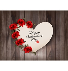 Happy valentines day background retro greeting vector