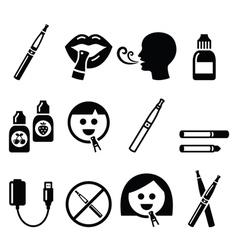 Electronic cigarette e-cigarette and accessories vector image