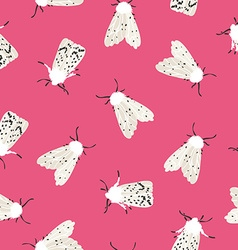 Unusual hipster seamless pattern with clothes moth vector