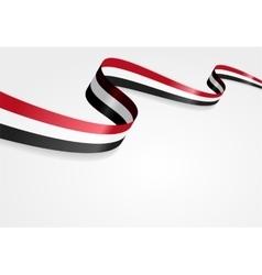 Yemeni flag background vector image