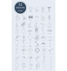 Linear medical icons elements vector