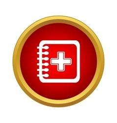 Clinical record icon simple style vector