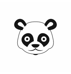 Head of panda icon simple style vector