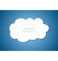 Abstract white cloud background vector image