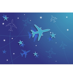 Airplanes and stars vector