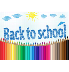 back to school the palette of pencils notebooks vector image vector image