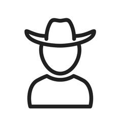 Boy in cowboy hat vector