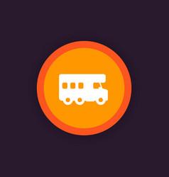 camping van camper icon vector image