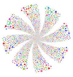 Cardiology fireworks swirl flower vector