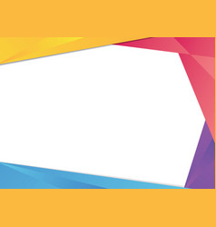 colorful triangle frame border vector image vector image