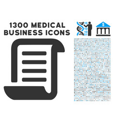 Conclusion roll document icon with 1300 medical vector