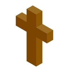 Cross isometric 3d icon vector