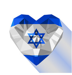 Crystal gem jewelry israeli heart vector