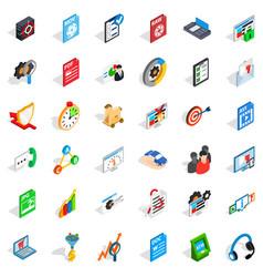 Database icons set isometric style vector