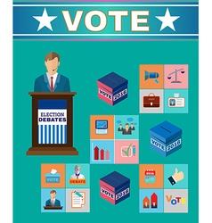 Election debates banner vector