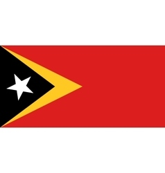 Flag of east timor in correct size colors vector