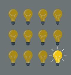 Light bulbs pattern idea concept vector