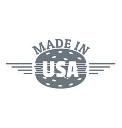 Made in usa logo simple style vector