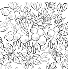 monochrome seamless wallpaper vector image vector image