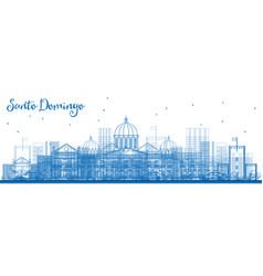 Outline santo domingo dominican republic city vector