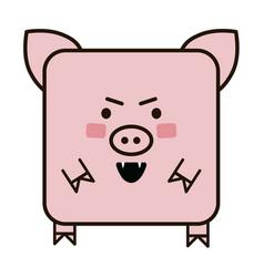 pig emoji flat icon vector image