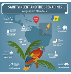 Saint Vincent and the Grenadines infographics vector image vector image