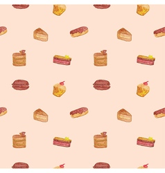 Seamless of chocolate desserts vector image