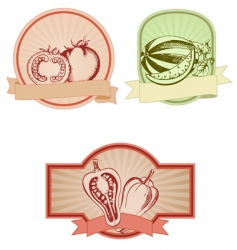 set of colored vintage labels vector image vector image
