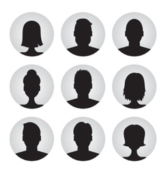 set of colorful user profile vector image vector image