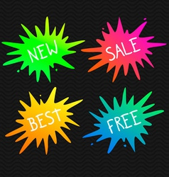 Splash banners vivid splats vector