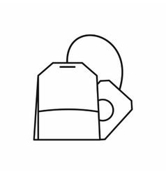 Teabag icon outline style vector