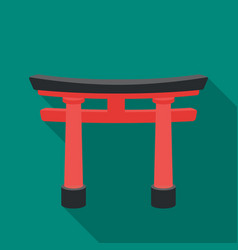 torii icon in flat style isolated on white vector image vector image