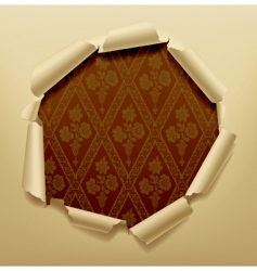 torn paper hole vector image