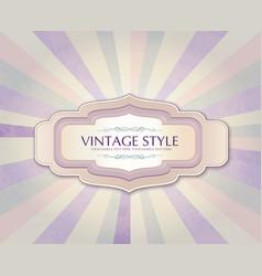 vintage frame over retro textured background vector image vector image