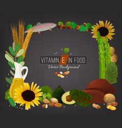 Vitamin e image vector