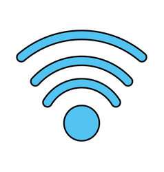 wifi signal icon image vector image