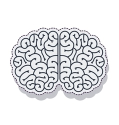 Brain storm isolated icon vector