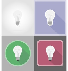 Power and energy flat icons 15 vector