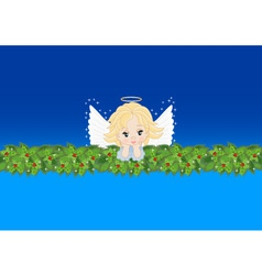 greeting card with an angel vector image