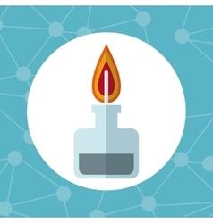 laboratory bunsen burner gas icon vector image