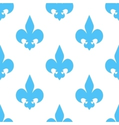 seamless texture of blue heraldic lily vector image